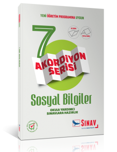 Sınav Yayınları 7.Sınıf Sosyal bilgiler Akordiyon Kitap