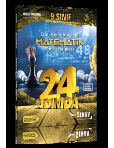 Sınav 9. Sınıf Matematik 24 Adımda Özel Konu Anlatımlı Soru Bankası