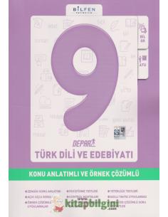Bilfen Yayınları 9.Sınıf Türk Dili ve Edebiyatı Depar Konu Anlatımlı ve Örnek Çözümlü