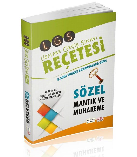 Editör Yayınları LGS Reçetesi Sözel Mantık Muhakeme Angora Serisi