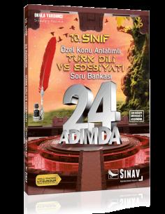 Sınav Yayınları 10. Sınıf Türk Dili ve Edebiyatı 24 Adımda Özel Konu Anlatımlı Soru Bankası