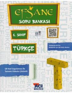 Açı Yayınları 6.Sınıf Türkçe Soru Bankası Kitabı