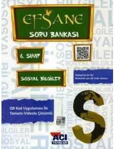 Açı Yayınları 6.Sınıf Sosyal Bilgiler Soru Bankası Kitabı