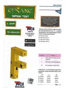 Açı Yayınları 6.Sınıf Fen Bilimleri Yaprak Test