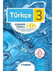 Tudem Yayınları 3.Sınıf Türkçe Kazanım Odaklı HBA