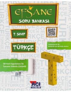 Açı Yayınları 7.Sınıf Türkçe Soru Bankası Kitabı