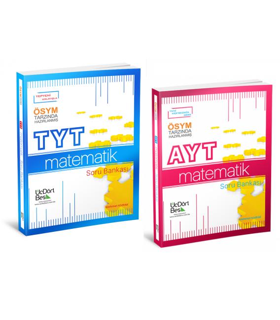 ÜçDörtBeş Yayınları TYT AYT Matematik Soru Bankası Set
