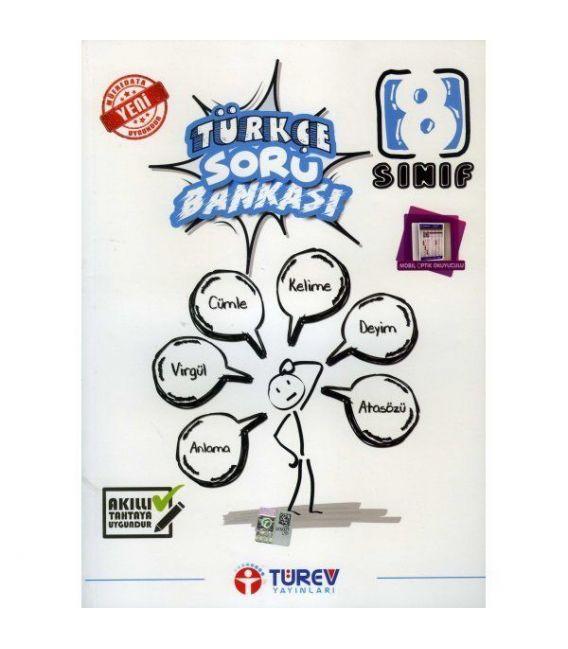 Türev Yayınları 8. Sınıf Türkçe Soru Bankası