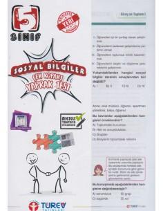 Türev Yayınları 5. Sınıf Sosyal Bilgiler Çek-Kopart Yaprak Test