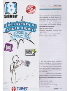 Türev Yayınları 8. Sınıf Din Kültürü ve Ahlak Bilgisi Çek-Kopart Yaprak Test