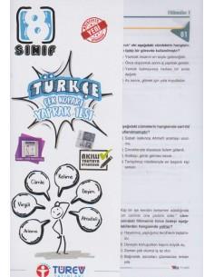Türev Yayınları 8. Sınıf Türkçe Çek-Kopart Yaprak Test