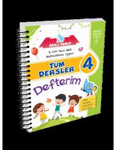 Akıllı Damla Tüm Dersler Defterim 4 .Sınıf
