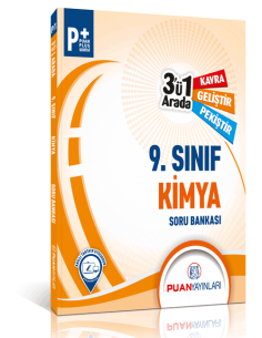 Puan Yayınları 9. Sınıf Kimya 3'ü 1 Arada Soru Bankası