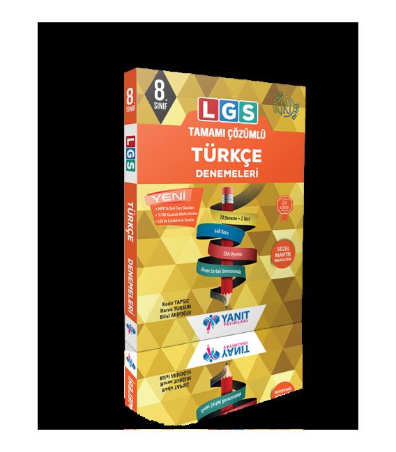 Yanıt Yayınları LGS Tamamı Çözümlü Türkçe Denemeleri