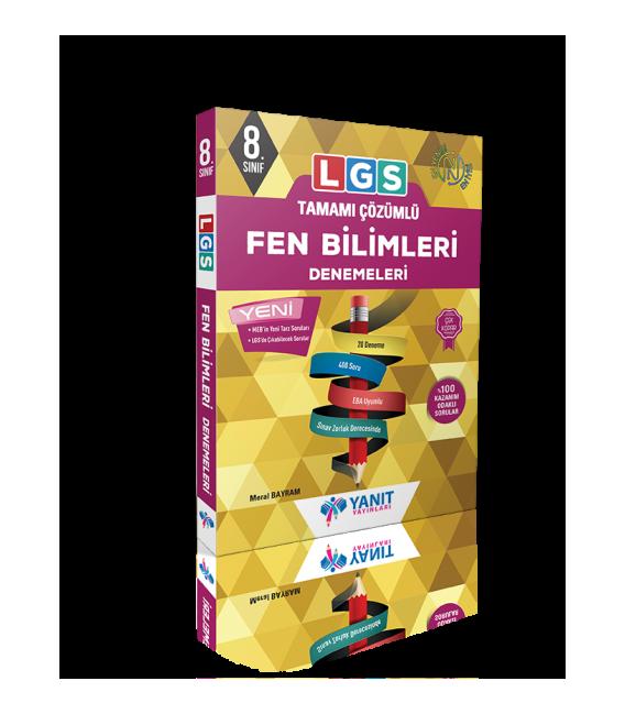 Yanıt Yayınları LGS Tamamı Çözümlü Fen Bilimleri Denemeleri