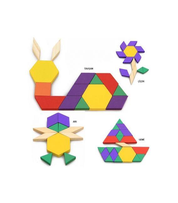Hobi 125 Parça Puzzle Tangram