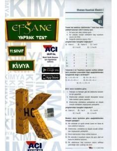 Açı 11.Sınıf Kimya Efsane Yaprak Test