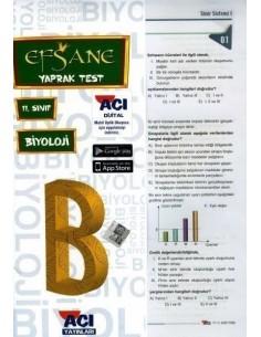 Açı 11.Sınıf Biyoloji Efsane Yaprak Test
