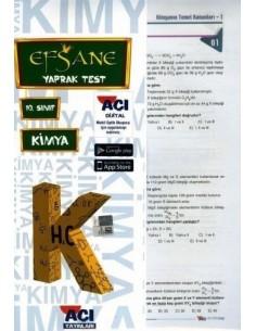Açı Yayınları 10.Sınıf Kimya Çek-Kopart Yaprak Test