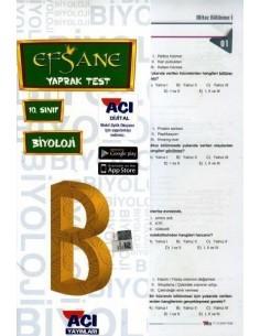 Açı Yayınları 10.Sınıf Biyoloji Çek-Kopart Yaprak Test