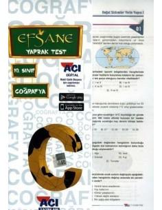 Açı Yayınları 10.Sınıf Coğrafya Çek-Kopart Yaprak Test