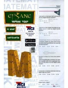 Açı Yayınları 10.Sınıf Matematik Çek-Kopart Yaprak Test