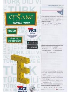 Açı Yayınları 10.Sınıf Edebiyat Çek-Kopart Yaprak Test