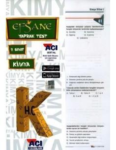 Açı Yayınları 9.Sınıf Kimya Çek-Kopart Yaprak Test