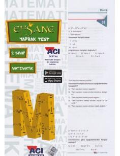 Açı Yayınları 9.Sınıf Matematik Çek-Kopart Yaprak Test