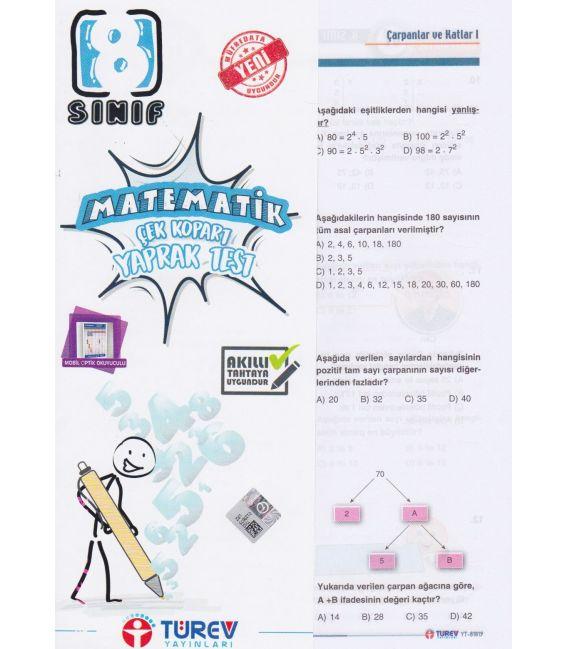 Türev Yayınları 8. Sınıf Matematik Çek-Kopart Yaprak Test