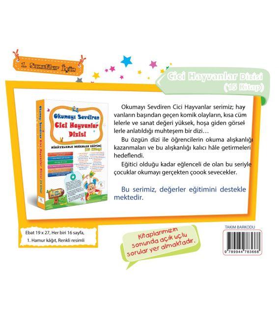 5 Renk Yayınları Cici Hayvanlar Dizisi Hikaye Seti (15 Kitap)