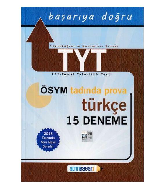 Altınbaşarı Yayıncılık TYT Türkçe 15 Deneme (Yeni)