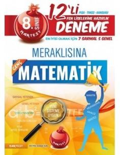Nartest 8. Sınıf Meraklısına Matematik 12'li Deneme Sınavı (7 Sarmal + 5 Genel)
