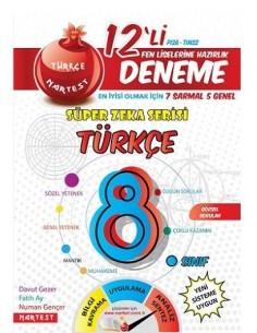 Nartest 8. Sınıf Türkçe 12 Deneme Sınavı (7 Sarmal + 5 Genel)