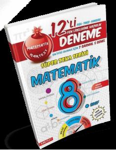Nartest 8. Sınıf Matematik 12 Deneme Sınavı (7 Sarmal + 5 Genel)