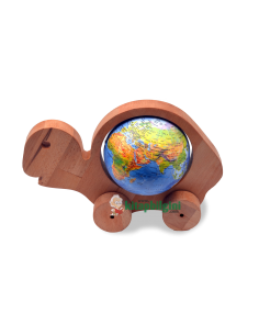 Ahşap Kaplumbağa Küre (15 cm) - Gürbüz Yayınları