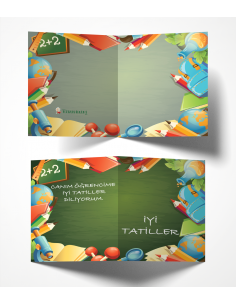 More about Kitapbilgini Okul Gereçleri Temalı Karne Kılıfı