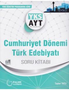 Palme Yayınları YKS-AYT Cumhuriyet Dönemi Türk Edebiyatı Soru Kitabı