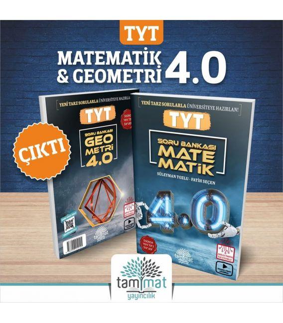 Tammat Yayıncılık  TYT Matematik 4.0 ve TYT Geometri 4.0 Soru Bankası