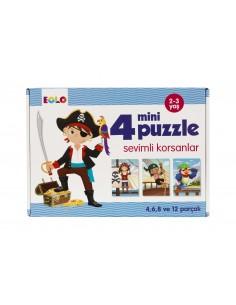 Eolo Mini Puzzle - Sevimli Korsanlar - 20006