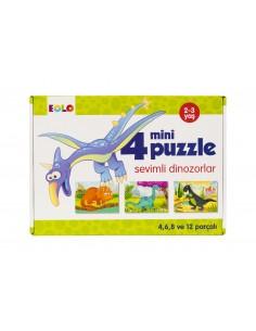 Eolo Mini Puzzle - Sevimli Dinozorlar - 20007