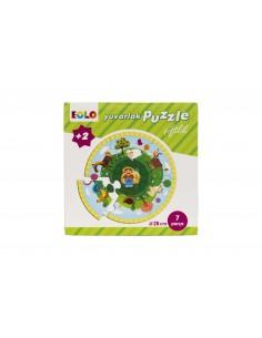 Eolo Yuvarlak Puzzle - Çiftlik - 30001