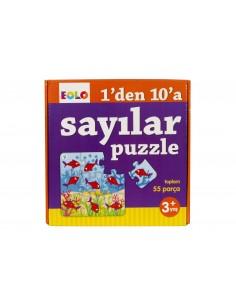 Eolo Puzzle - 1'den 10'a  Sayılar Puzzle - 30004