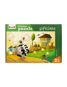 Eolo Yer Puzzle - 24 Parça Puzzle - Çiftlikte - 30005