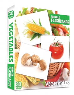 Vegetables Miracle Flashcards 30 Cards - MK Publications