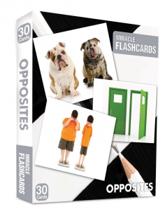 Opposites Miracle Flashcards 30 Cards - MK Publications