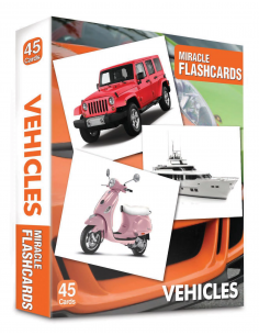 Vehicles Miracle Flashcards 45 Cards - MK Publications