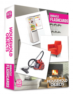 Household Objects Miracle Flashcards 45 Cards - MK Publications