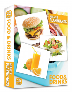 Food and Drinks Miracle Flashcards 45 Cards - MK Publications