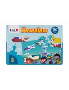 Eolo Yer Puzzle - 60 Parça Puzzle - Havaalanı - 40007